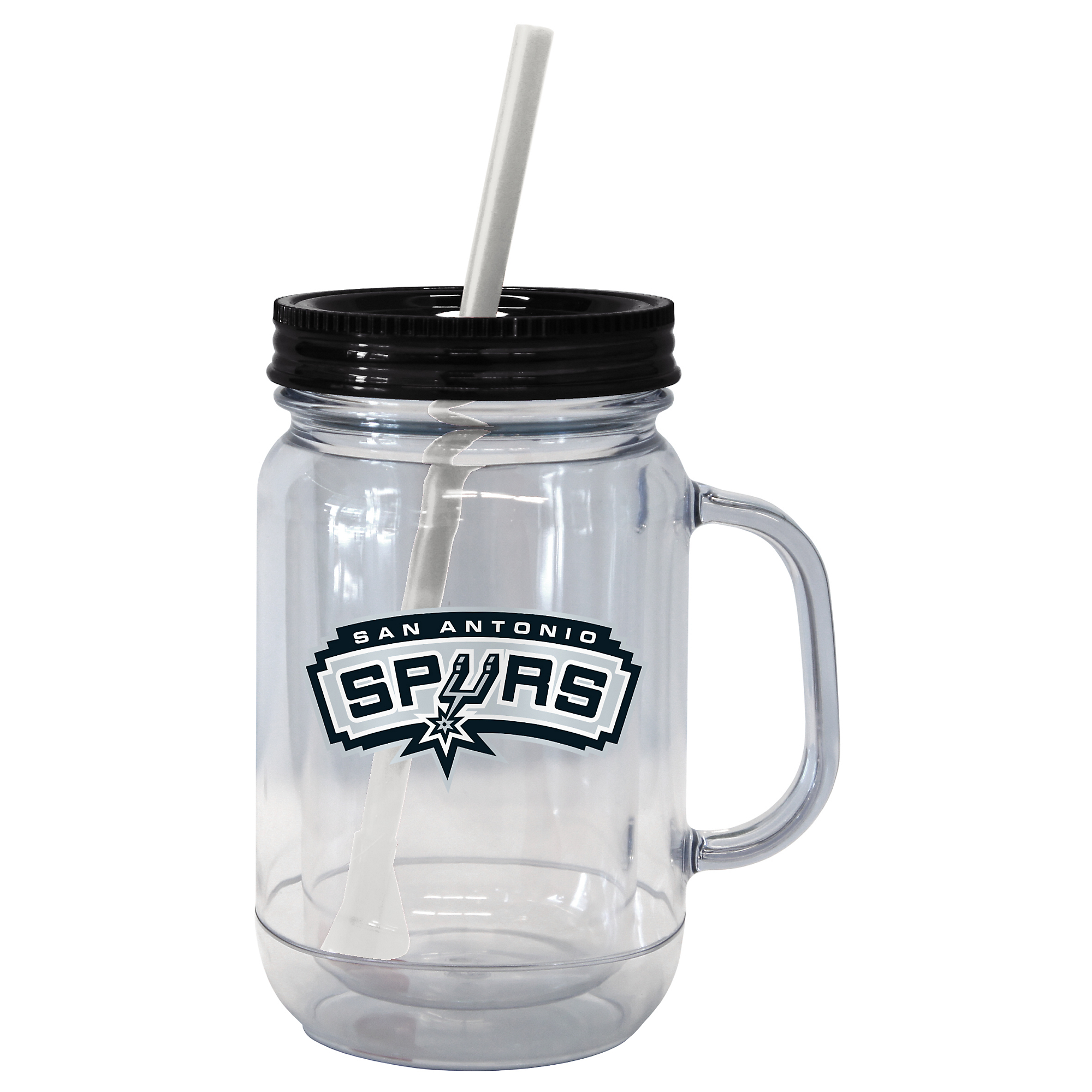 San Antonio Spurs Handled Straw Tumbler