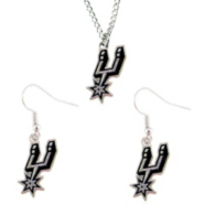 San Antonio Spurs Earring and Necklace Set