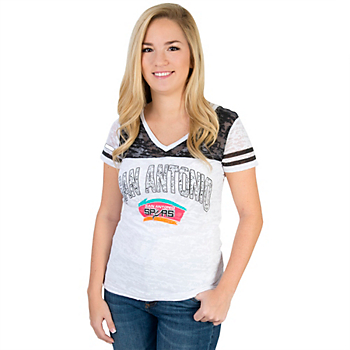 San Antonio Spurs Womens G-III Coop Burnout Tee