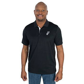 San Antonio Spurs Adidas Golf Stripe Polo