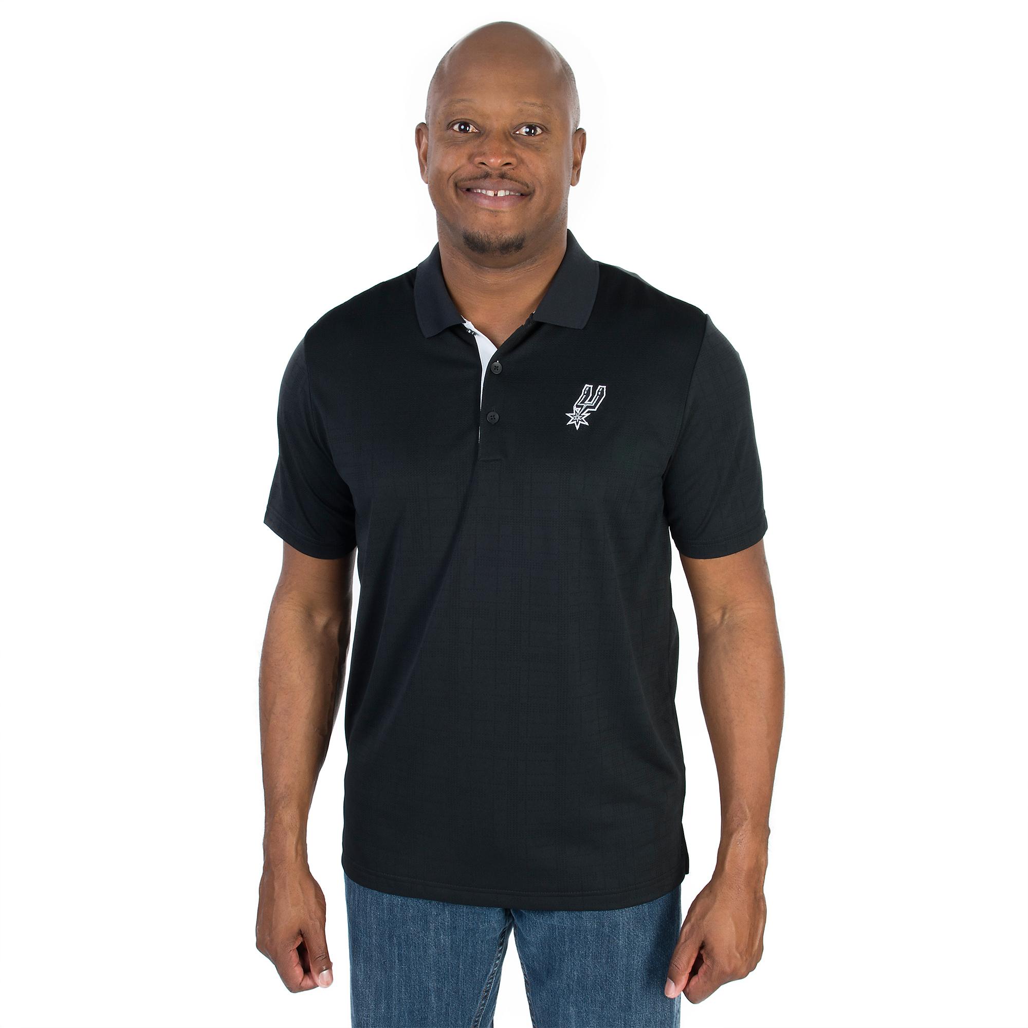 San Antonio Spurs Adidas Golf Stripe Polo