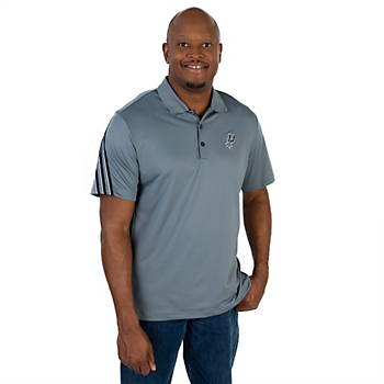 San Antonio Spurs Adidas 3 Stripe Polo