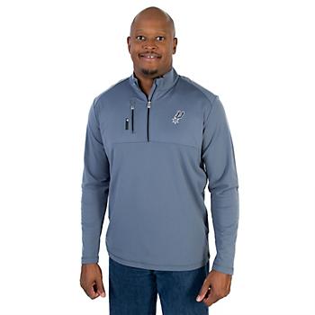 San Antonio Spurs Adidas Mixed Media 1/4 Zip Jacket