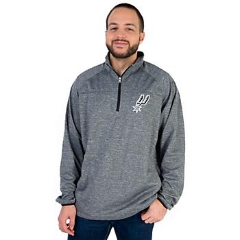 San Antonio Spurs GIII Franchise 1/4 Zip Fleece Pullover