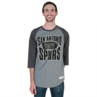 San Antonio Spurs Mitchell & Ness Practice Raglan Tee