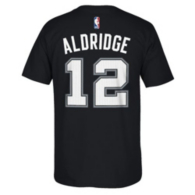 San Antonio Spurs Adidas Lamarcus Aldridge #12 Name and Number Tee