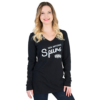 San Antonio Spurs Womens Slub Knit Long Sleeve Tee
