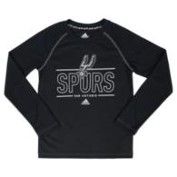 San Antonio Spurs Adidas Youth Long Sleeve Performance Crew