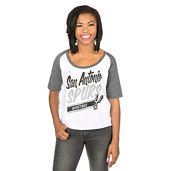 San Antonio Spurs Adidas Colorblock Tee