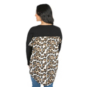 San Antonio Spurs Gameday Couture Leopard Back Gingham Piko Top