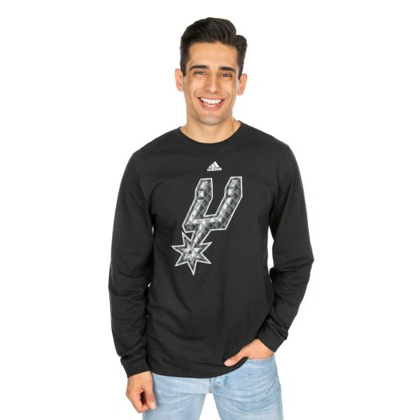 San Antonio Spurs Adidas Tech Quilt Long Sleeve Tee