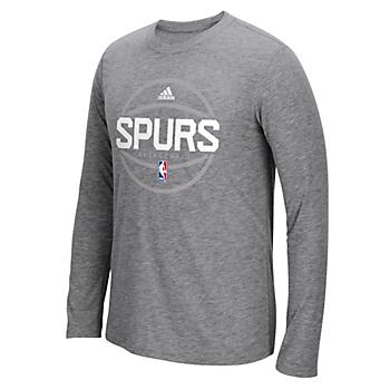 San Antonio Spurs Adidas Spurs Pre-Game Logo Long Sleeve Tee