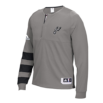 San Antonio Spurs Adidas On-Court Shooter Long Sleeve Tee