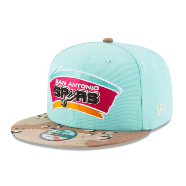 San Antonio Spurs New Era Camo Twist Trick Snapback Cap