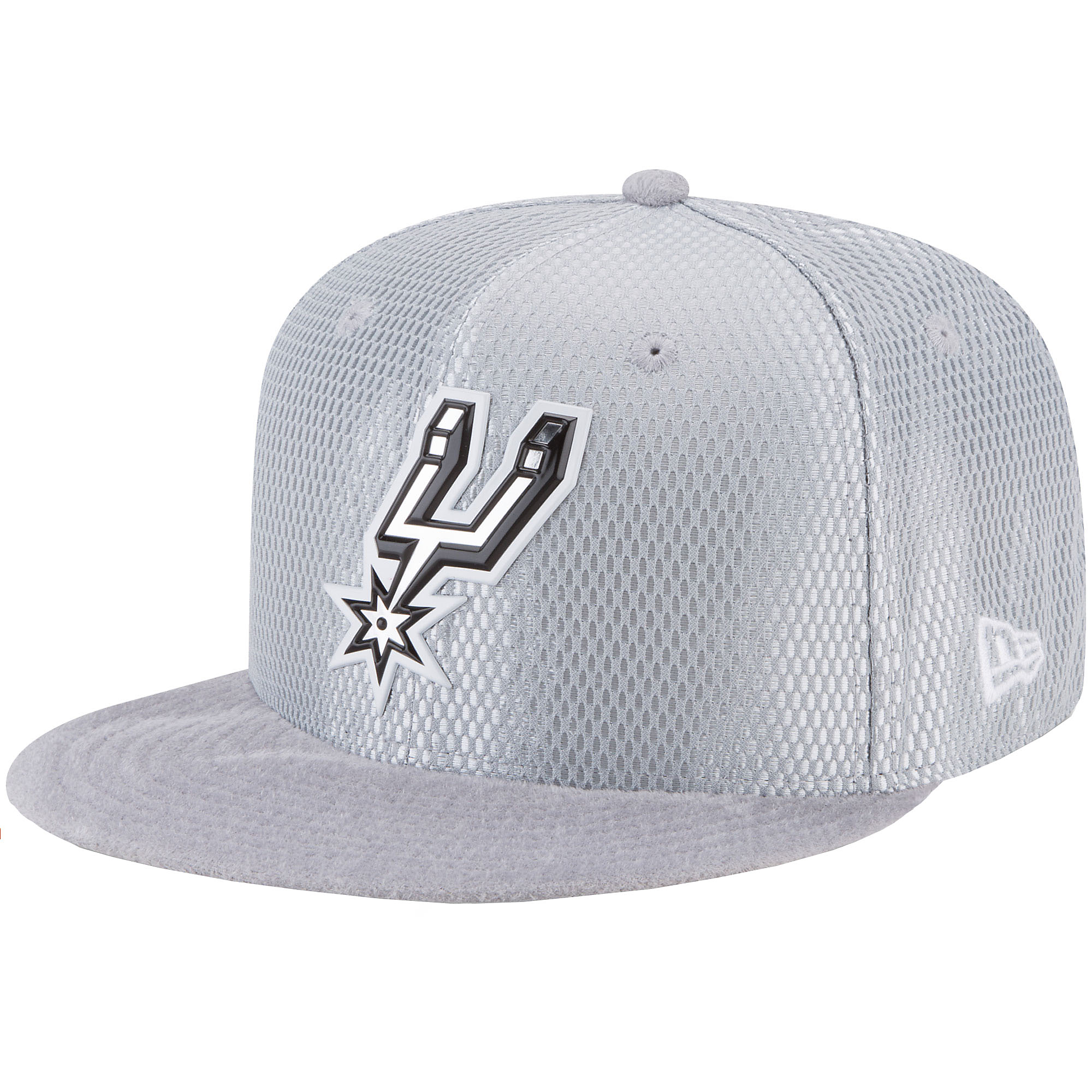 8fd71abfcb8 San Antonio Spurs New Era On-Court Grey Snapback Cap