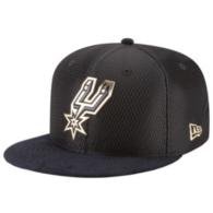 San Antonio Spurs New Era On-Court Black & Gold 9Fifty Cap