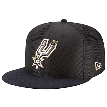 San Antonio Spurs New Era On-Court Black & Gold 9Fifty Cap