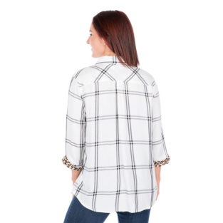 San Antonio Spurs Womens Plaid Button Down Top