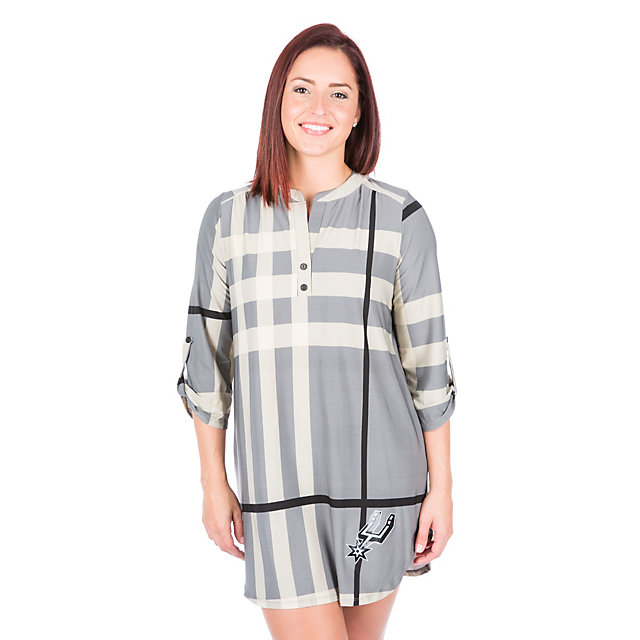 San Antonio Spurs 3/4 Sleeve Plaid Tunic