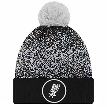 San Antonio Spurs New Era Youth On-Court Pom Knit Cap