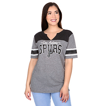 San Antonio Spurs 47 Womens Triblend Striped Sleeve T-Shirt