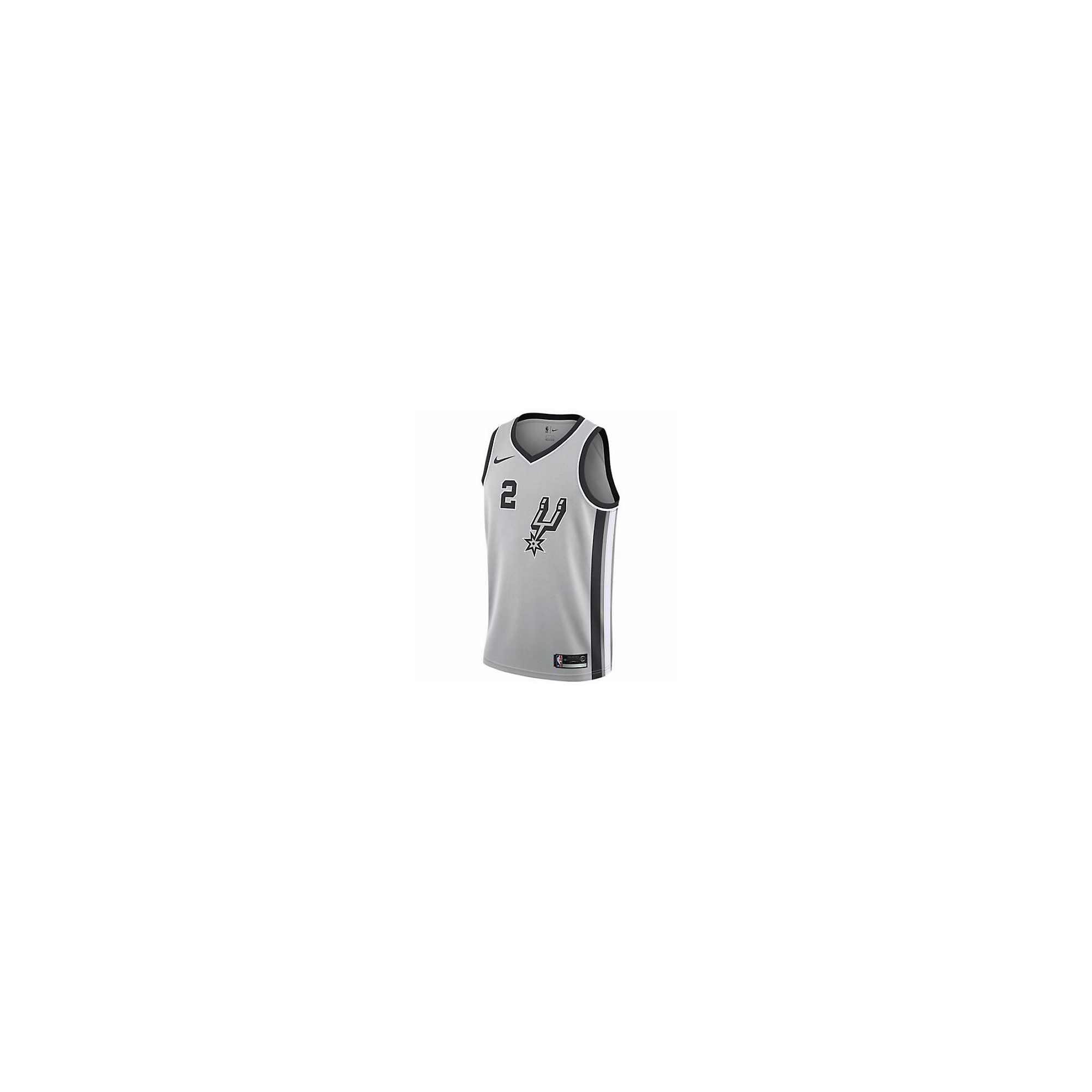 uk availability 8503f dac2e San Antonio Spurs Kawhi Leonard Nike Grey Replica Swingman ...