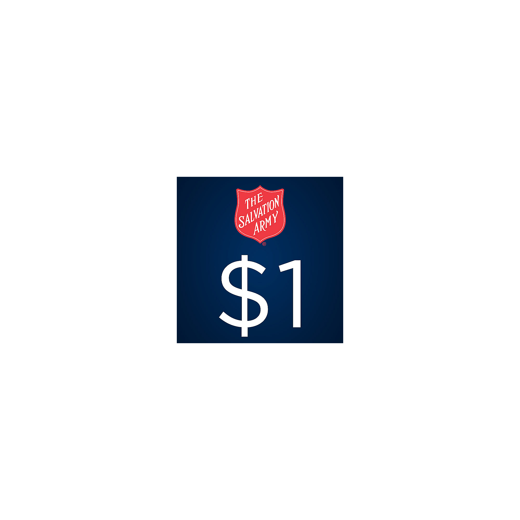 The Salvation Army $1 Donation