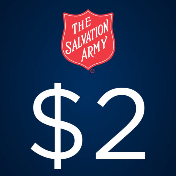 The Salvation Army $2 Donation