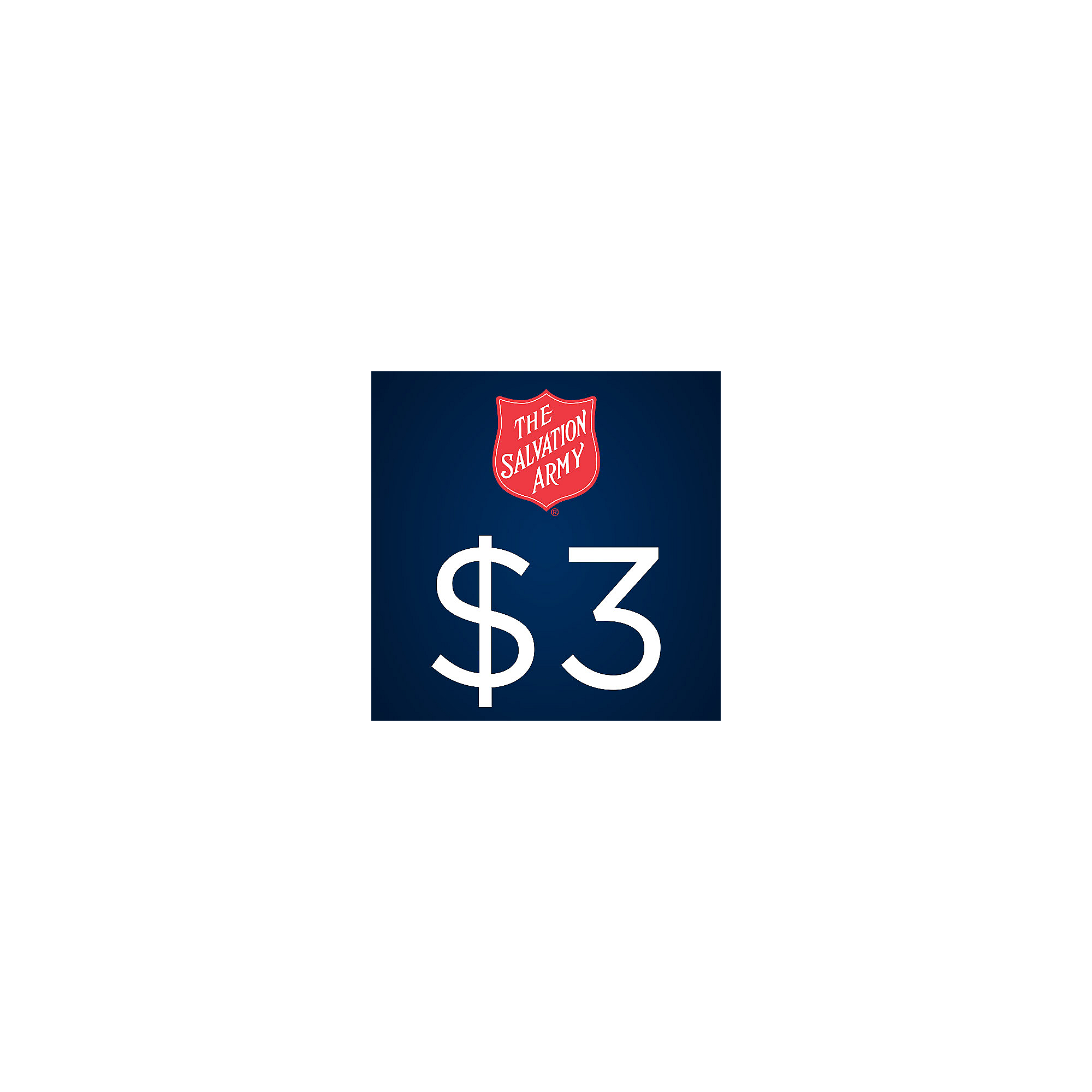 The Salvation Army $3 Donation