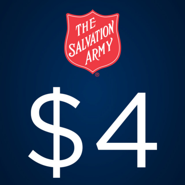 The Salvation Army $4 Donation