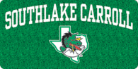 Southlake Carroll Dragons Glitter Mirror License Plate