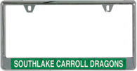Southlake Carroll Dragons Glitter Mirror License Plate Frame