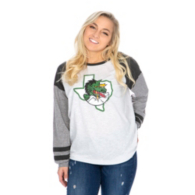 Southlake Carroll Dragons 47 Womens Distressed Imprint Cinderblock Tee
