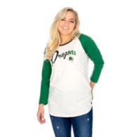 Southlake Carroll Dragons 47 Womens Gradient Script Raglan T-Shirt