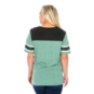 Southlake Carroll Dragons 47 Womens Triblend Striped Sleeve Tee