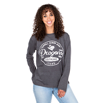 Southlake Carroll Dragons Pressbox Womens Surfer Stamp T-Shirt