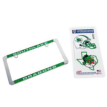 Southlake Carroll Dragons Combo License Plate Frame