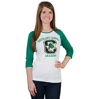 Southlake Carroll Dragons Big Block Raglan Tee