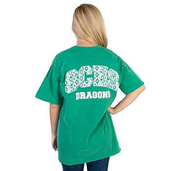 Southlake Carroll Dragons Womens Comfort Colors Short Sleeve Tee