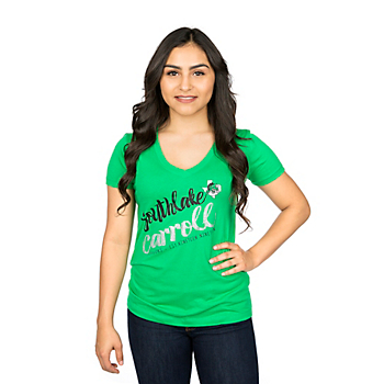 Southlake Carroll Dragons Summit Junior's Relaxed Basic Deep V-Neck Tee
