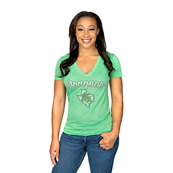 Southlake Carroll Dragons Summit Junior's Relaxed Tri-blend V-Neck Short Sleeve Tee