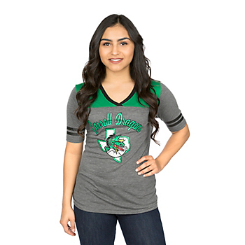 Southlake Carroll Dragons Colosseum Womens Twist V-Neck Short Sleeve Tee