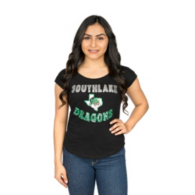 Southlake Carroll Dragons Colosseum Womens Overshoot Scoop Neck Dolman Tee