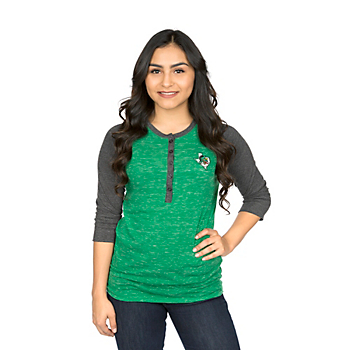 Southlake Carroll Dragons Colosseum Womens Split 3/4 Sleeve Top