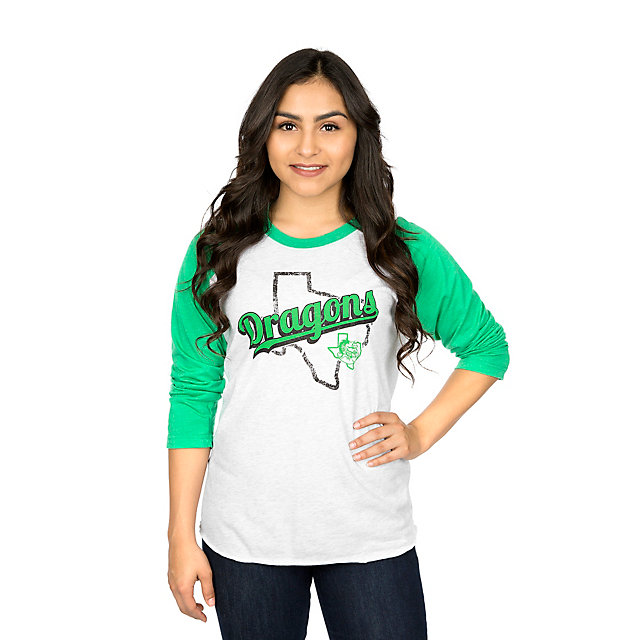 Southlake Carroll Dragons Summit Womens Triblend 3/4 Raglan Tee
