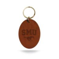 SMU Mustangs Embossed Key Fob