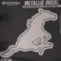SMU Mustangs 6x6 Metallic Decal