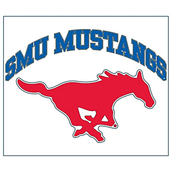SMU Mustangs 6x6 Arched Logo Decal