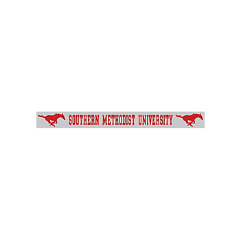SMU Mustangs 2x19 Strip Color Decal