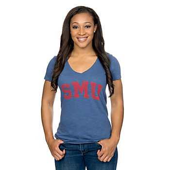 SMU Mustangs 47 V-Neck Short Sleeve Scrum Tee
